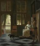 Живопись | Питер де Хох | Письмо, 1670