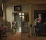 Живопись | Питер де Хох | Спальня, 1659