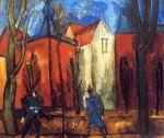 Живопись | Рауль Дюфи | Дома в Мюнхене, 1909