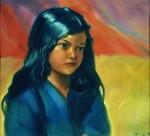 Живопись | Святослав Рерих | Портрет девочки, 1937