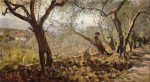Живопись | Телемако Синьорини | Хрупкие оливковые деревья Сеттиньяно