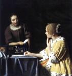Живопись | Ян Вермеер | Госпожа и служанка с письмом, 1667