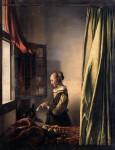 Живопись | Ян Вермеер | Девушка, читающая письмо у открытого окна, 1657-59