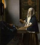Живопись | Ян Вермеер | Женщина, держащая весы, 1663