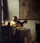 Живопись | Ян Вермеер | Женщина с лютней, 1663