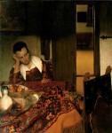 Живопись | Ян Вермеер | Спящая девушка, 1656-57
