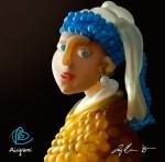 Пародия на картину «Девушка с жемчужной сережкой»