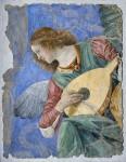 Фреска | Мелоццо да Форли | Ангел, играющий на лютне, около 1480