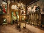 Архитектура | Лебединый замок | Кабинет (почтовая открытка, конец XIX века)