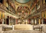 Архитектура | Лебединый замок | Тронный зал (почтовая открытка, конец XIX века)