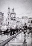 Графика | Андрей Полетаев | Дождливый Петербург