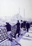 Графика | Андрей Полетаев | Рыбаки (Стамбул)