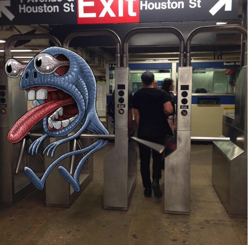 Бэн Pубин. Монстры в метро!