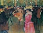 Живопись | Анри де Тулуз-Лотрек | В Мулен Руж. Танец, 1890
