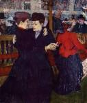 Живопись | Анри де Тулуз-Лотрек | Две танцующие женщины в Мулен Руж, 1892