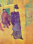 Живопись | Анри де Тулуз-Лотрек | Жанна Авриль, выходящая из Мулен Руж, 1893