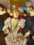 Живопись | Анри де Тулуз-Лотрек | Ла Гулю с двумя подругами в Мулен Руже, 1892