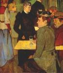 Живопись | Анри де Тулуз-Лотрек | Уголок в Мулен де ла Галетт, 1892