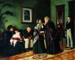 Живопись | Владимир Маковский | В приемной у доктора, 1870