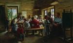 Живопись | Владимир Маковский | В сельской школе, 1883