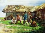 Живопись | Владимир Маковский | Игра в бабки, 1870