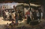 Живопись | Владимир Маковский | Молебен на Пасху, 1887-88
