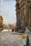 Живопись | Готхард Кюль | У церкви в Дрездене