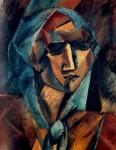 Живопись   Жорж Брак   Голова женщины, 1909