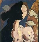 Живопись | Жорж Брак | Двойная фигура с морским фоном, 1942