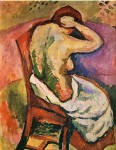 Живопись | Жорж Брак | Сидящая женщина, 1907
