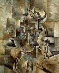 Живопись | Жорж Брак | Скрипка и подсвечник, 1910