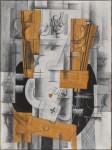 Живопись   Жорж Брак   Соусник и карты, 1913