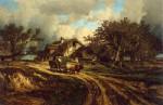 Живопись | Жюль Дюпре | Деревенский пейзаж, 1844