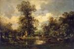 Живопись | Жюль Дюпре | Лесной пейзаж, 1840-е