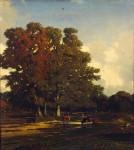 Живопись | Жюль Дюпре | Осенний пейзаж, 1840-50