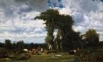 Живопись | Жюль Дюпре | Landscape With Cattle At Limousin, 1837