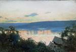 Живопись | Исаак Левитан | Вечер на Волге, 1888