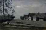 Живопись | Исаак Левитан | Лунная ночь. Деревня, 1897