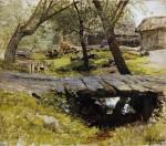 Живопись | Исаак Левитан | Мостик. Саввинская слобода, 1884