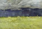 Живопись | Исаак Левитан | Уборка сена (Последняя, неоконченная работа), 1900