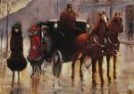 Живопись | Лессер Ури | Дамы, выходящие из пролетки, 1920