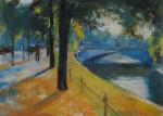 Живопись | Лессер Ури | Мост через Ландвер-канал, 1920