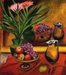 Живопись | Макс Пехштейн | Натюрморт с фруктами и кувшином, 1917