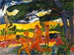 Живопись | Макс Пехштейн | Под деревьями, 1911