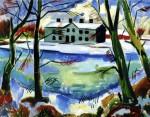 Живопись | Макс Пехштейн | Таяние снега, 1922