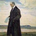 Живопись | Михаил Нестеров | Мыслитель (Портрет философа И.А. Ильина),1921-22