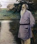 Живопись | Михаил Нестеров | Портрет Л.Н. Толстого, 1907