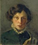 Живопись | Михаил Нестеров | Портрет М.И. Нестеровой, первой жены художника, 1886