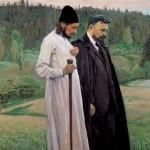 Живопись | Михаил Нестеров | Философы (Флоренский и Булгаков), 1917