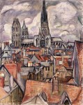 Живопись | Отон Фриез | Крыши и кафедральный собор в Руане, 1908